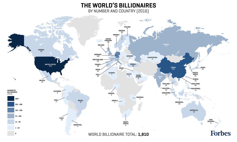 Agribank: La Mappa Dei Paesi Con Più Miliardari • Rivista Studio