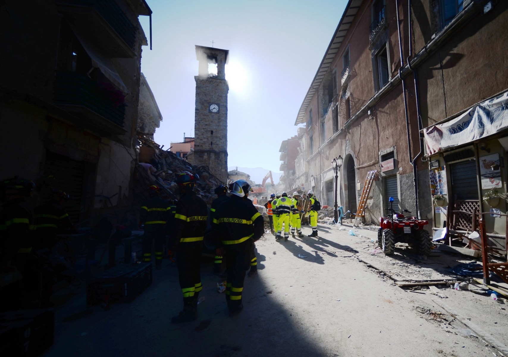 pompieri terremoto
