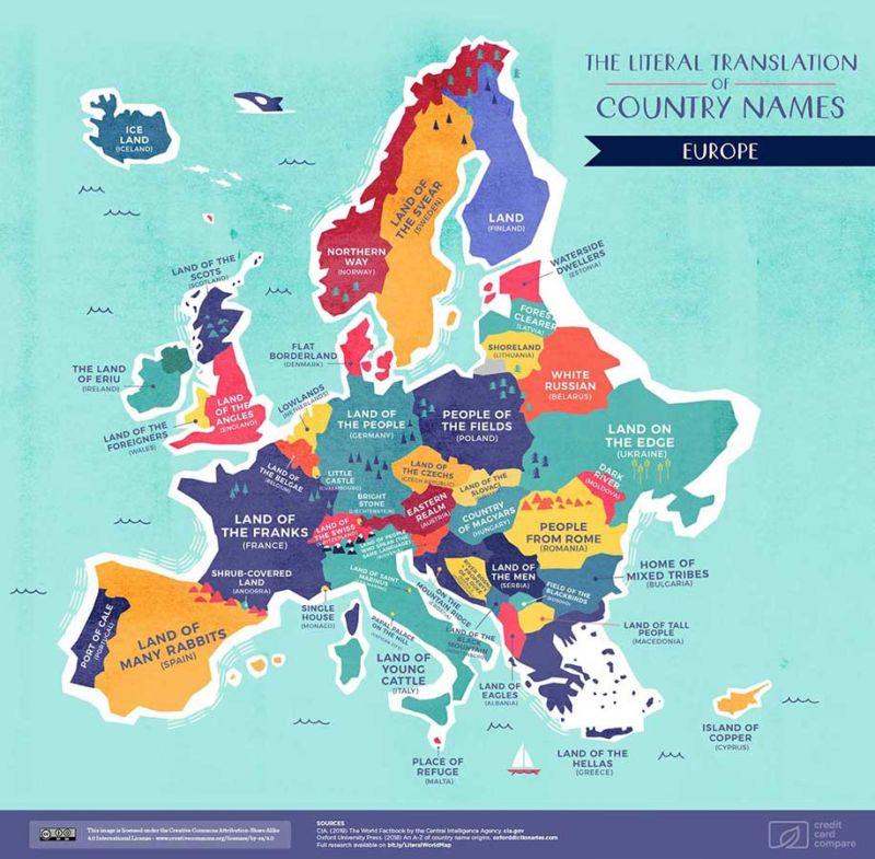 Cosa significano i nomi di tutti gli Stati del mondo